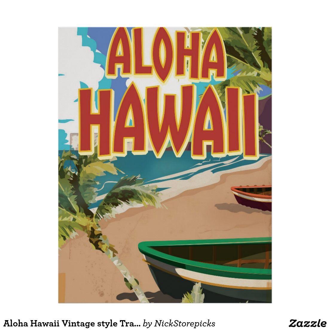 aloha hawaii vintage style travel