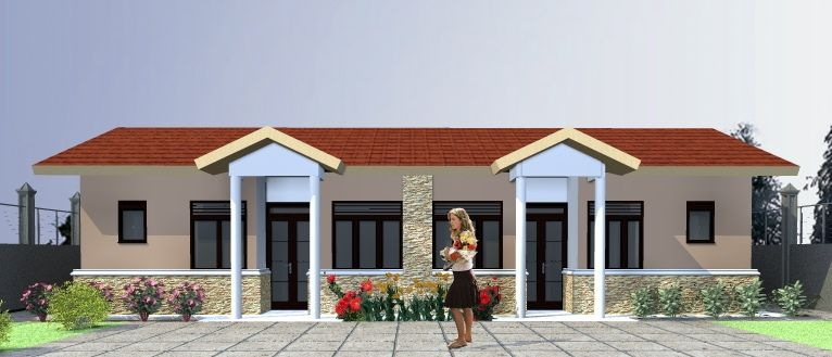 Pin By Muhsin Sharief On Houses Bedroom House Plans 2 Bedroom House Plans House Simple house plan in uganda