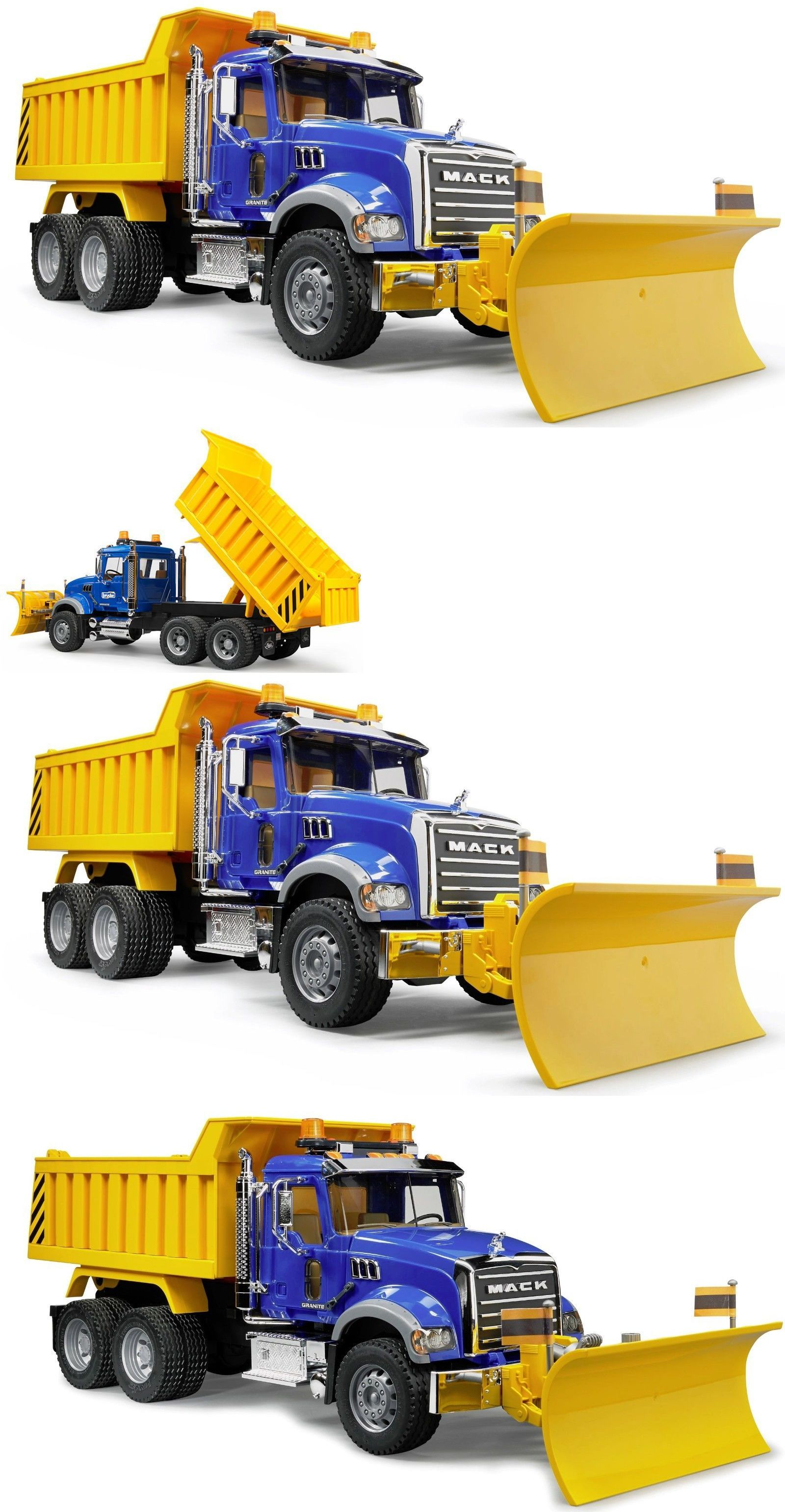Contemporary Manufacture 152934 Bruder Toys Kids Mack Granite Dump Truck With Snow Plow Blade 02825 New Buy It Now Only 75 5 Trucks Snow Plow Dump Truck