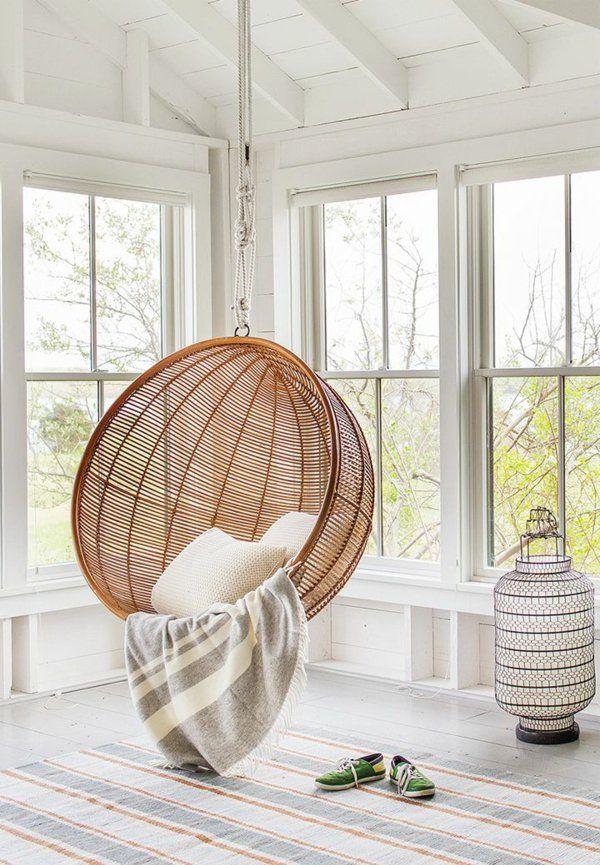 63 Idees Avec Une Balancoire Pour Votre Salon Archzine Fr Deco Chambre A Coucher Chambre A Coucher Ikea Fauteuil Deco