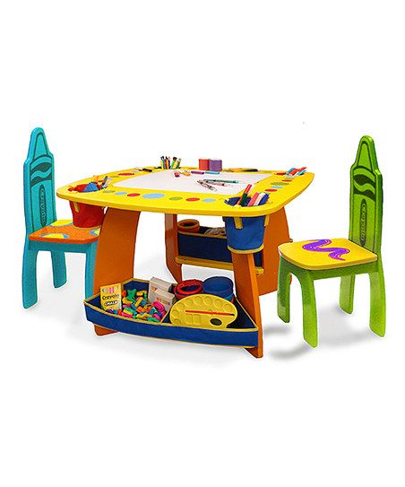 Crayola Wooden Table Chair Set Wooden Table And Chairs