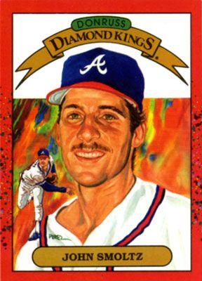 John Smoltz For Donruss Diamond Kings Baseball Card Series