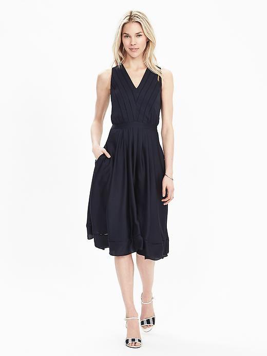 Satin Midi Vee Dress Banana Republic Fit Flare Dress Dresses Women Clothes Sale