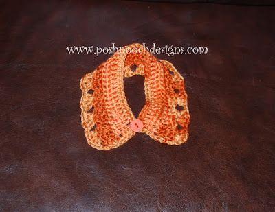 Posh Pooch Designs Dog Clothes Pumpkin Spice Dog Collar Crochet