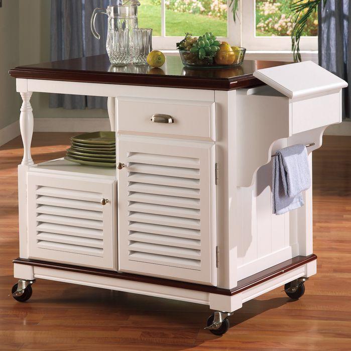 Dale Kitchen Cart | Islas de cocina, Muebles de cocina y Ruedas