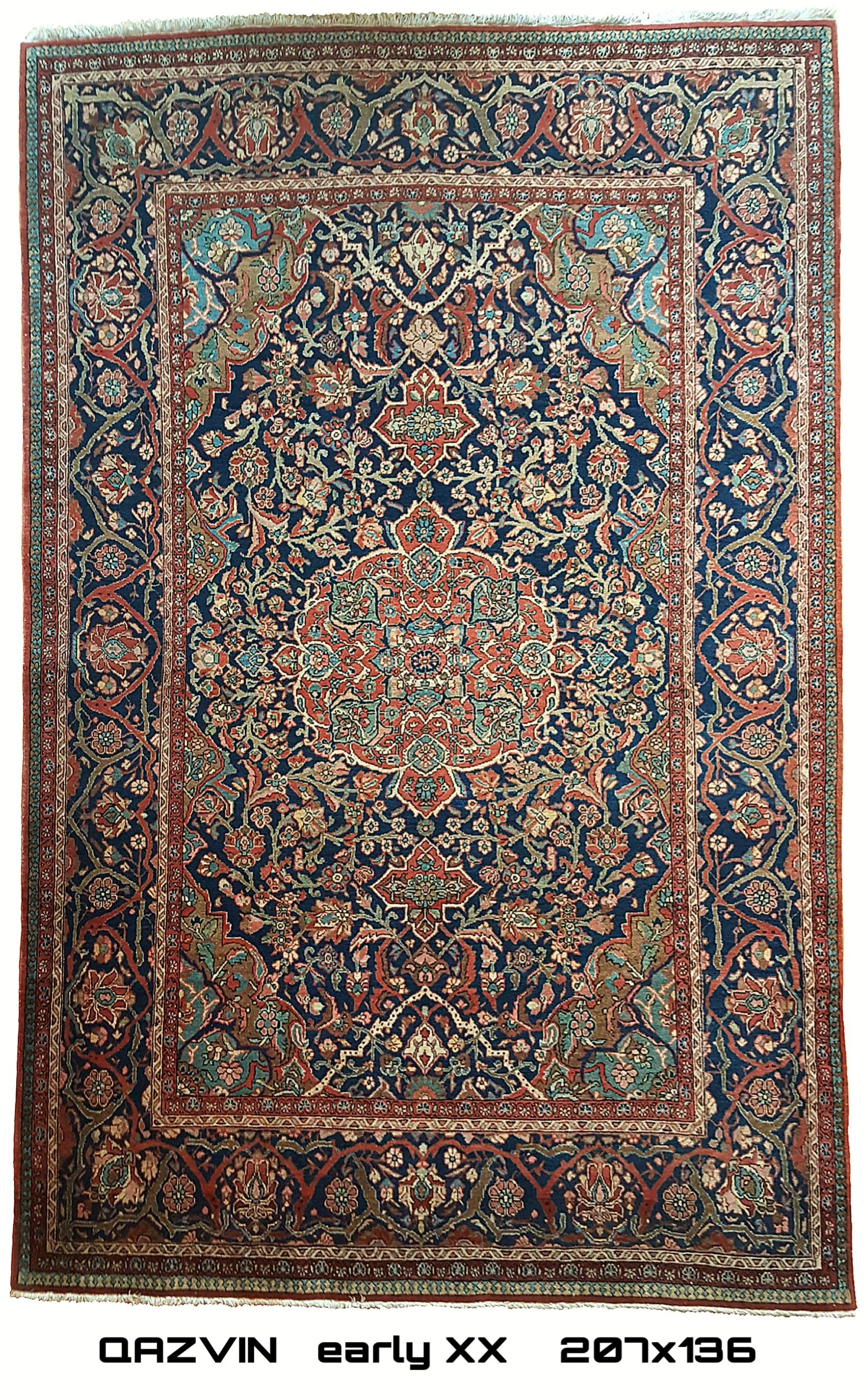 Tappeti Persiani Corridoio Qazvin Antique Persian Carpet Early Xx 207x136 Antique Rugs