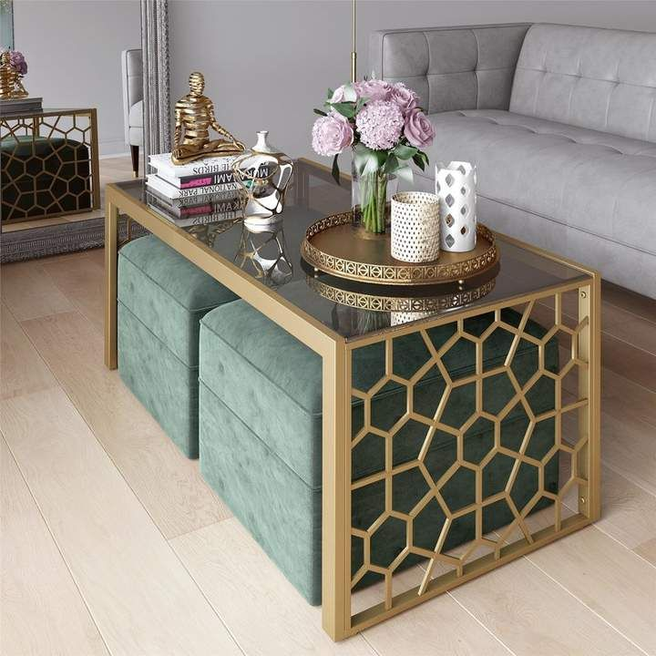 Cosmoliving By Cosmopolitan Juliette Coffee Table Decorating