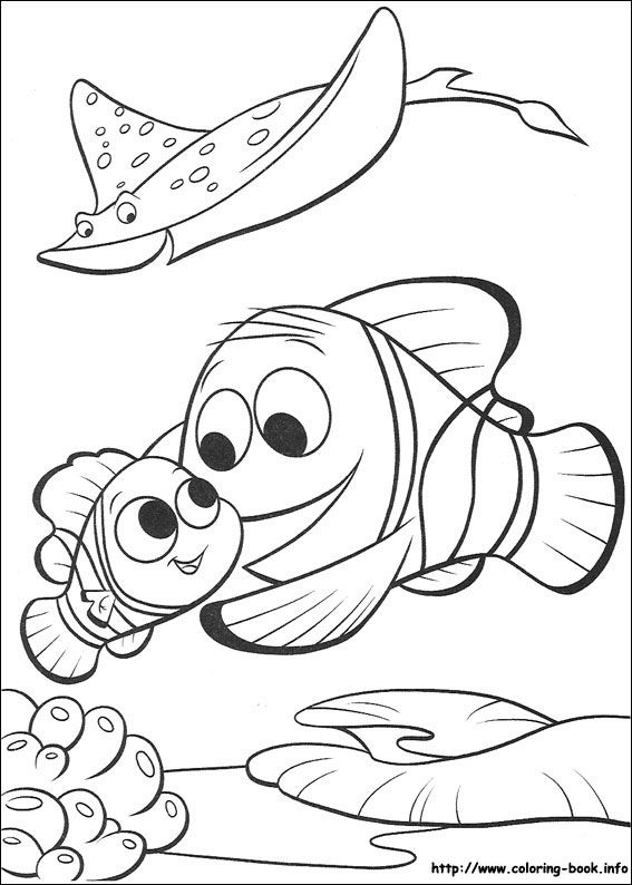 Finding Nemo coloring picture | Disney Coloring Pages | Pinterest ...