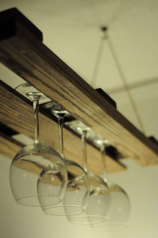 pallet wine glass rack