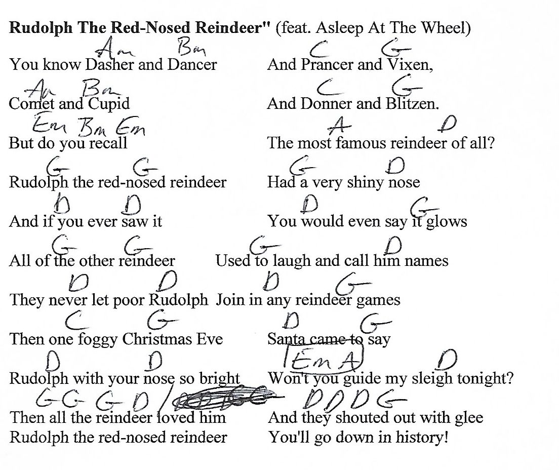 Rudolph the red nosed reindeer christmas g major guitar chord rudolph the red nosed reindeer christmas g major guitar chord chart with lyrics hexwebz Image collections