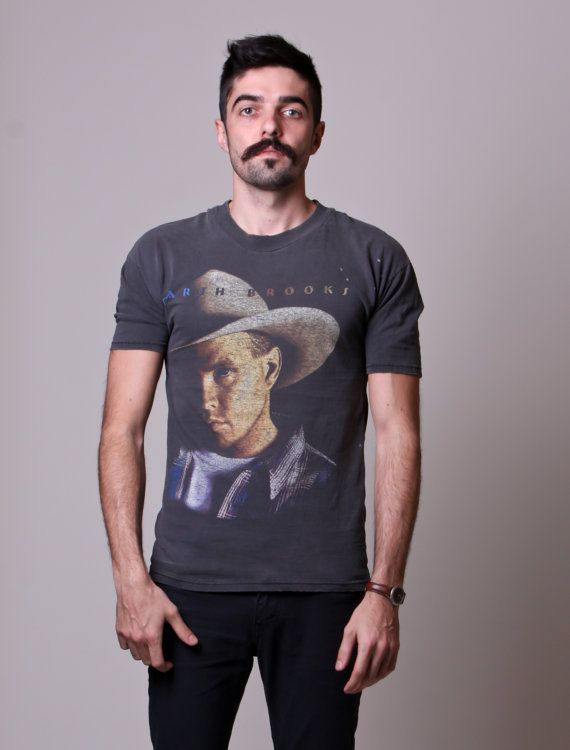 19e464ab1 90s Garth Brooks T Shirt Mens Slim Fit Tee by NullifyAnew, $29.00 ...