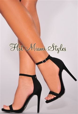 Open Toe Ankle Strap High Heel Sandals