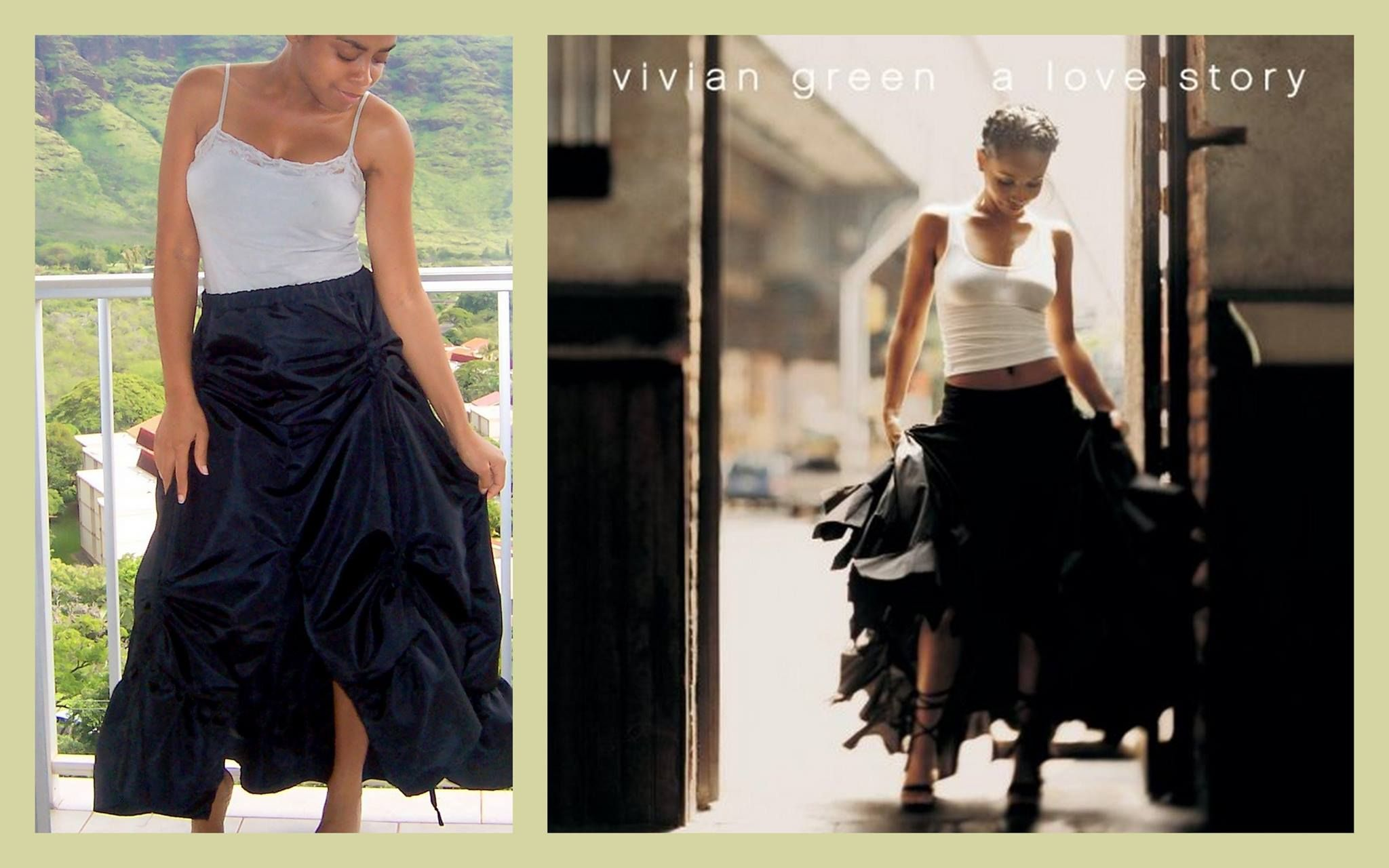 Customized ruched skirt (and a comparison to my favorite vivian green photo)! Read more at https://www.facebook.com/flytieclothing/photos/a.10150202808630301.434467.36931525300/10153886465775301/?type=1&theater