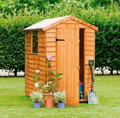 overlap apex wooden garden shed 6 x 4ft homebase