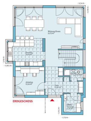 Fertighaus villa grundriss  Fertighaus und Energiesparhaus - Villa 189 EG   Grundrisse ...
