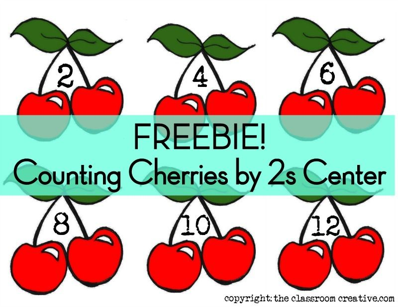 free printable count by 2s center cherries courtesy of the classroom creative