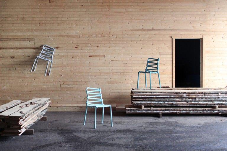 Loop Chair by swedish Markus Johansson Design studio. Fibreglass.