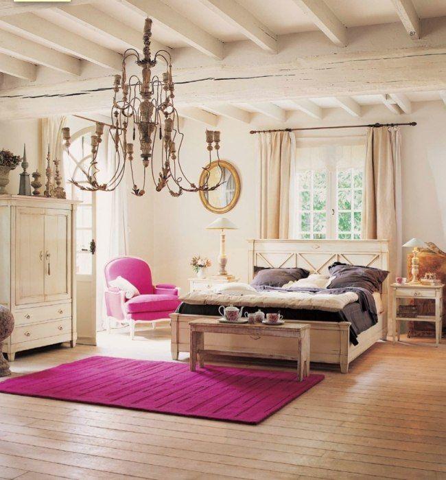 Wohnideen Vintage wohnideen für schlafzimmer vintage rosa akzente holzmöbel 01 leben