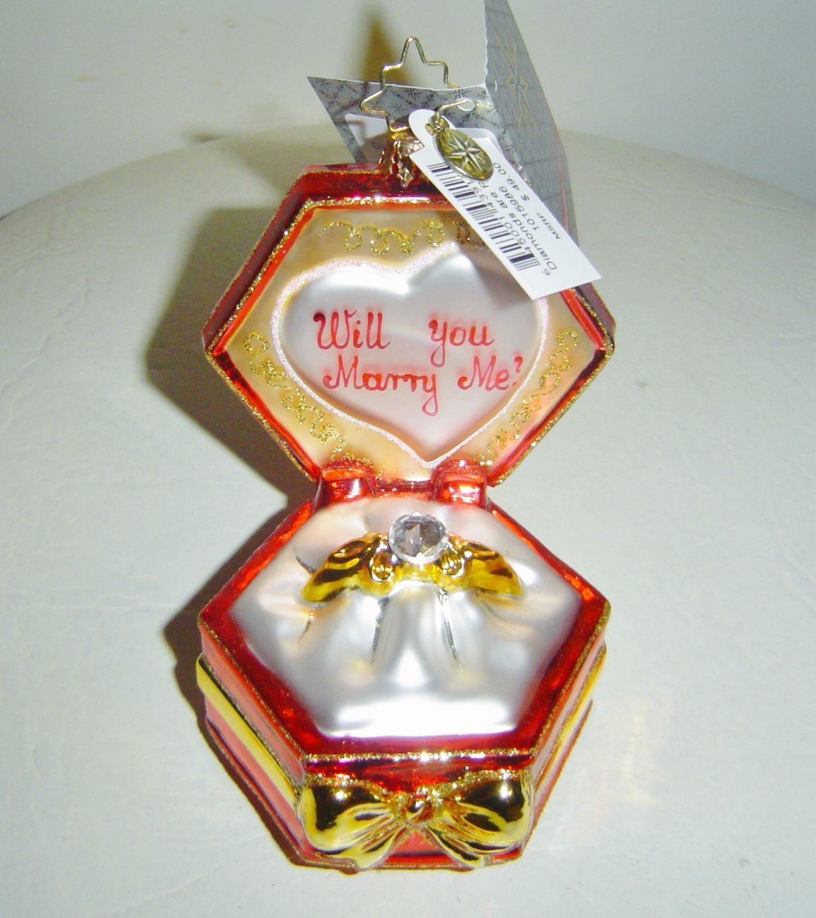Will you marry me christmas ornament - Christopher Radko Diamonds Are Forever Will You Marry Me Ornament