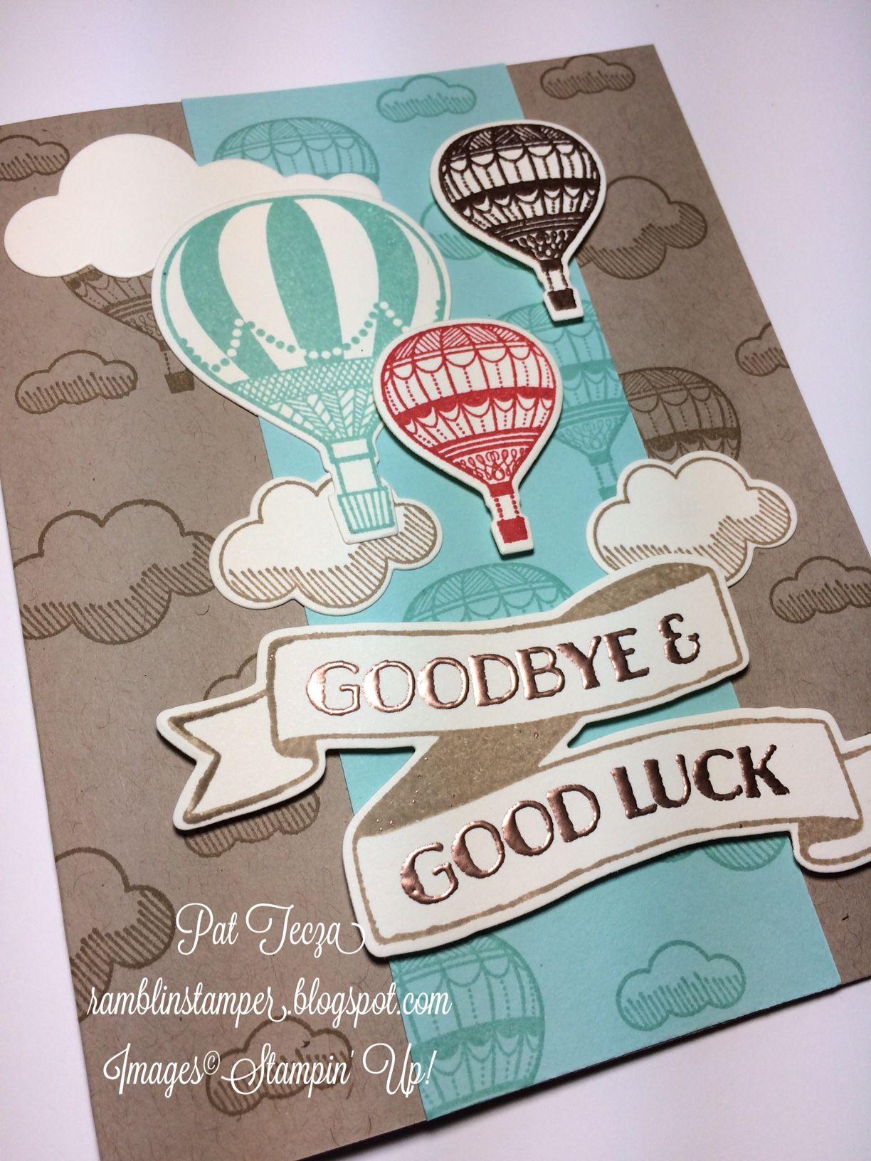 wwwramblinstamperblogspot  good luck cards