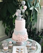 Baby Shower Cake How cute for the elephant theme cake cupcakes and cookies cakesisterspac   Party decorations