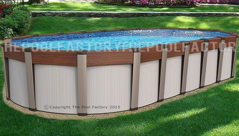 Above Ground Pool 5 Feet Deep Abovegroundpool Oval Pool Oval Above Ground Pools Backyard Pool Landscaping