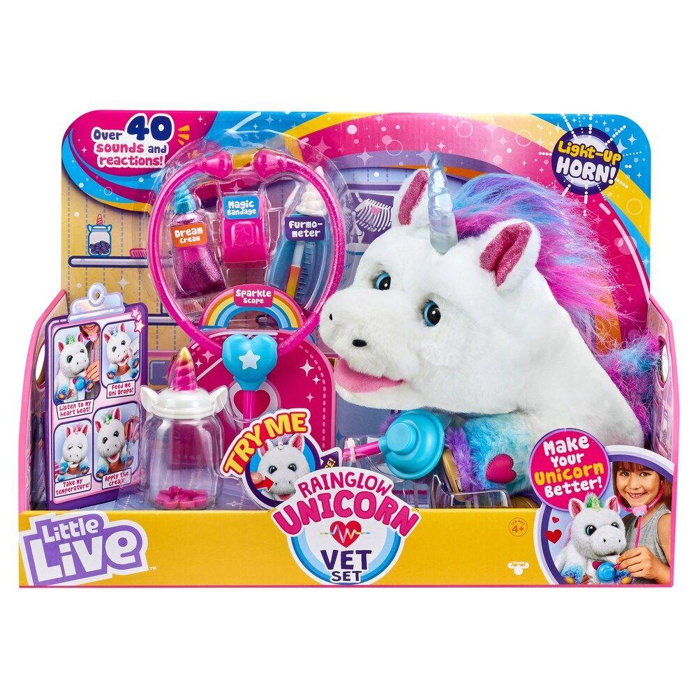 Little Live Rainglow Unicorn Vet Set Little Live Pets Unicorn Cool Things To Buy