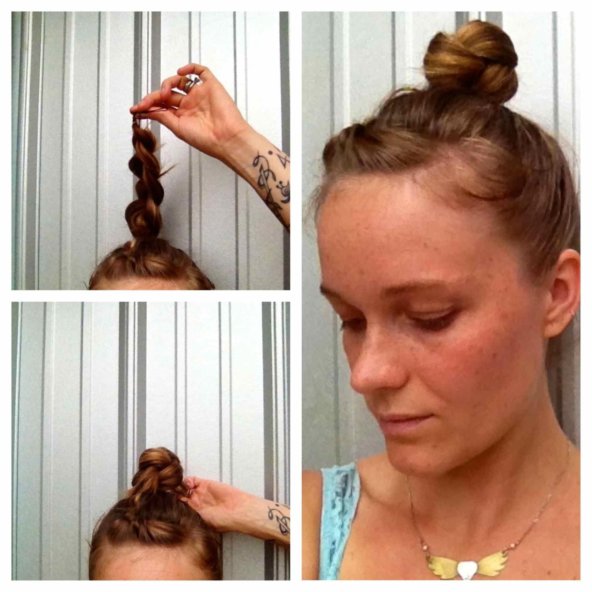 Diy easy braided bun for more inspired hair diy tohairgirl