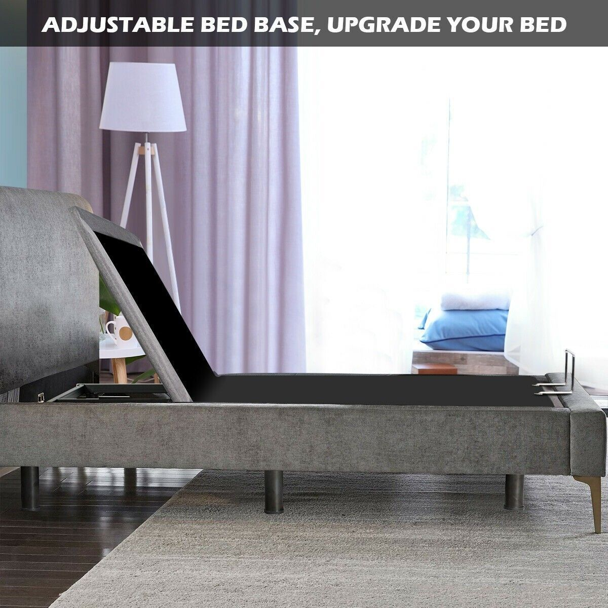 Queen Size Steel Frame Remote Adjustable Bed Base