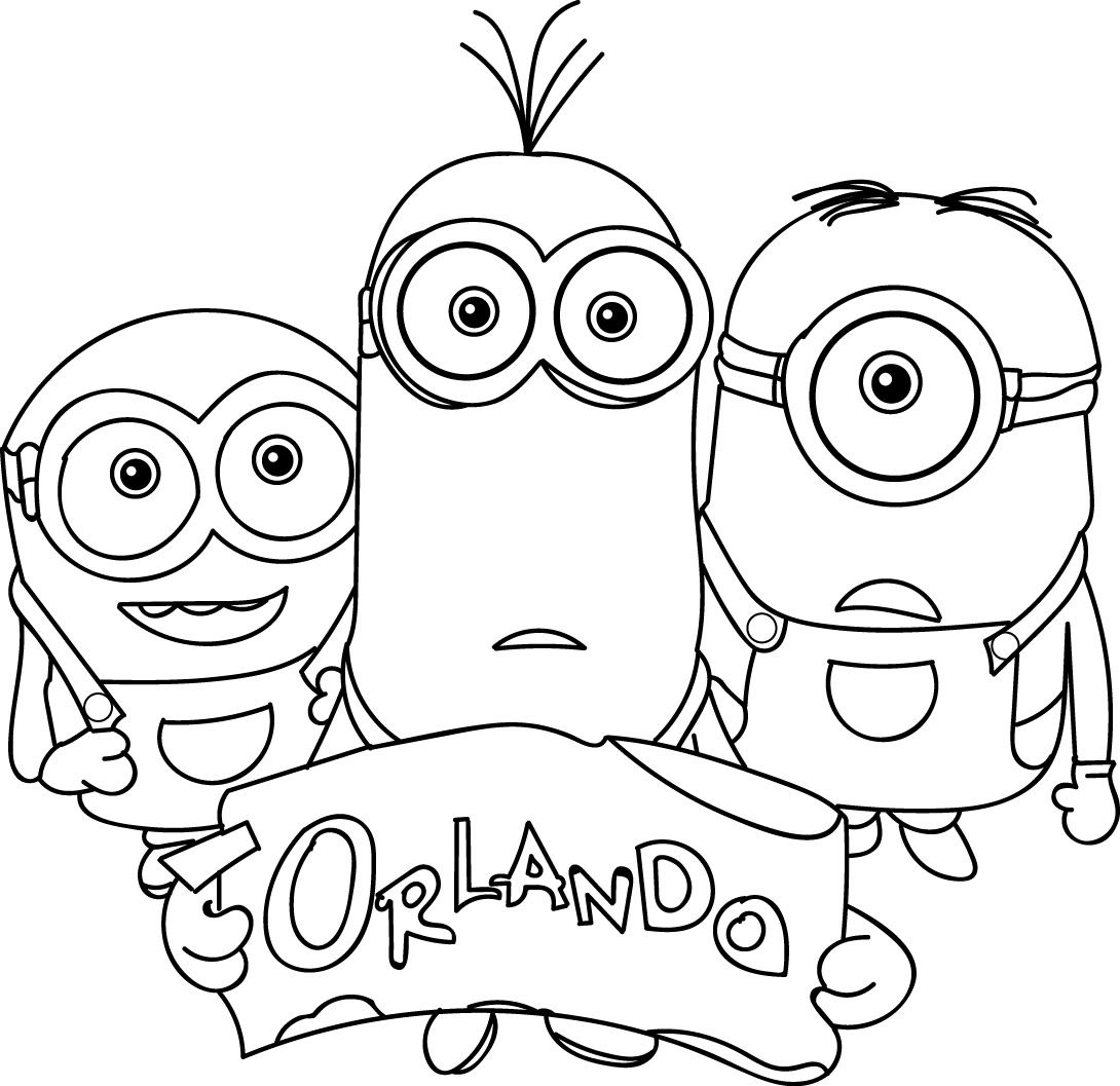 Minions Orlando Coloring Page Minion Coloring Pages Minions
