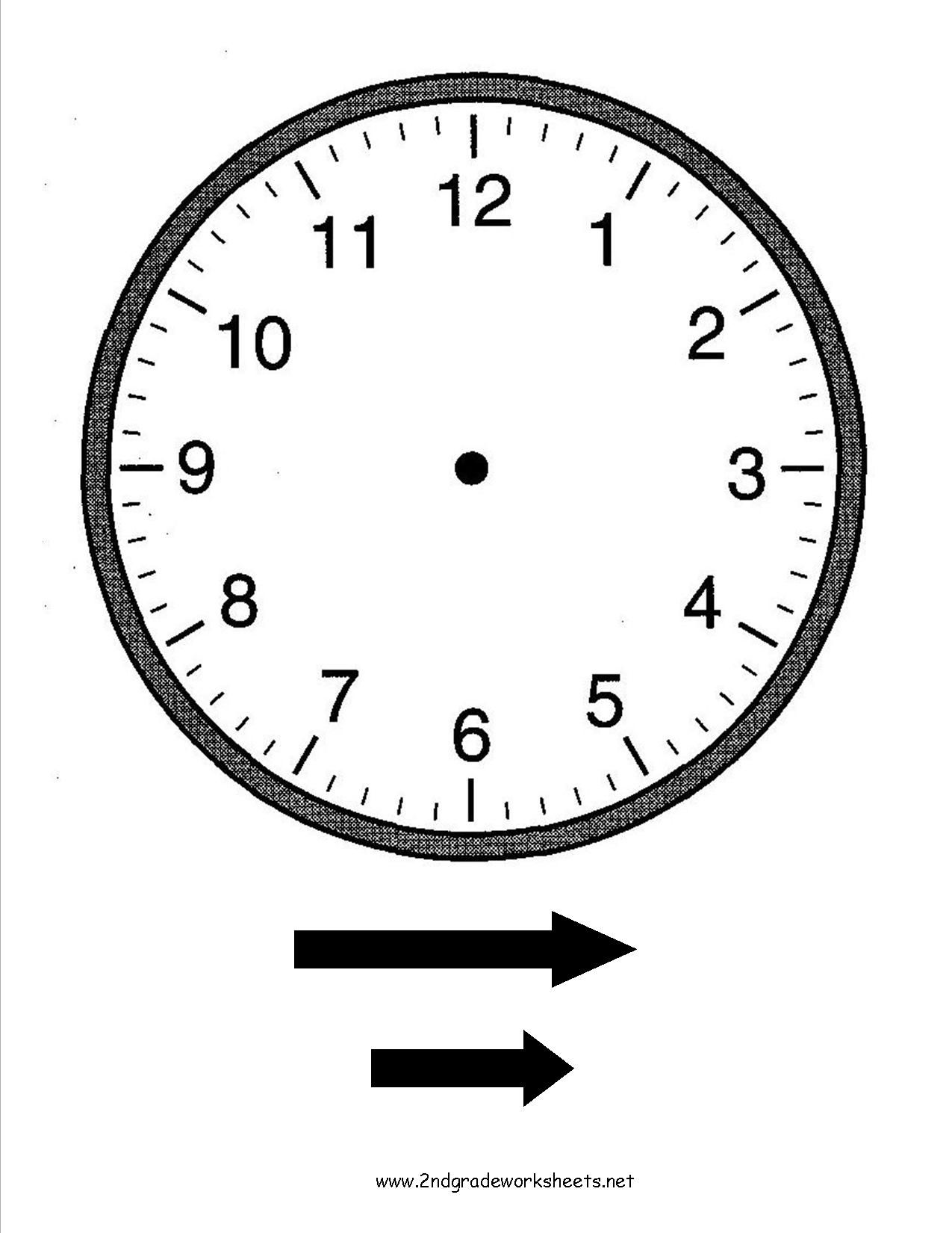 Fill In The Blank Clock Worksheets