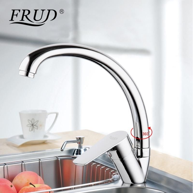 New Silver High Quality Water Mixer Tap Mixer Taps Kitchen Sink Faucets Kitchen Mixer