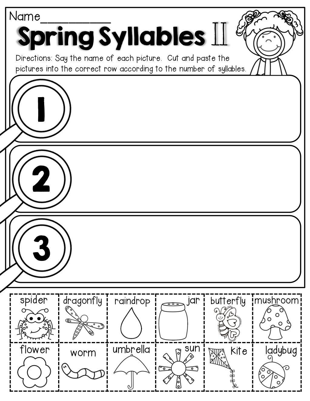Closed Syllable Worksheets First Grade Closed Syllable Worksheets   Syllable  worksheet [ 1325 x 1024 Pixel ]