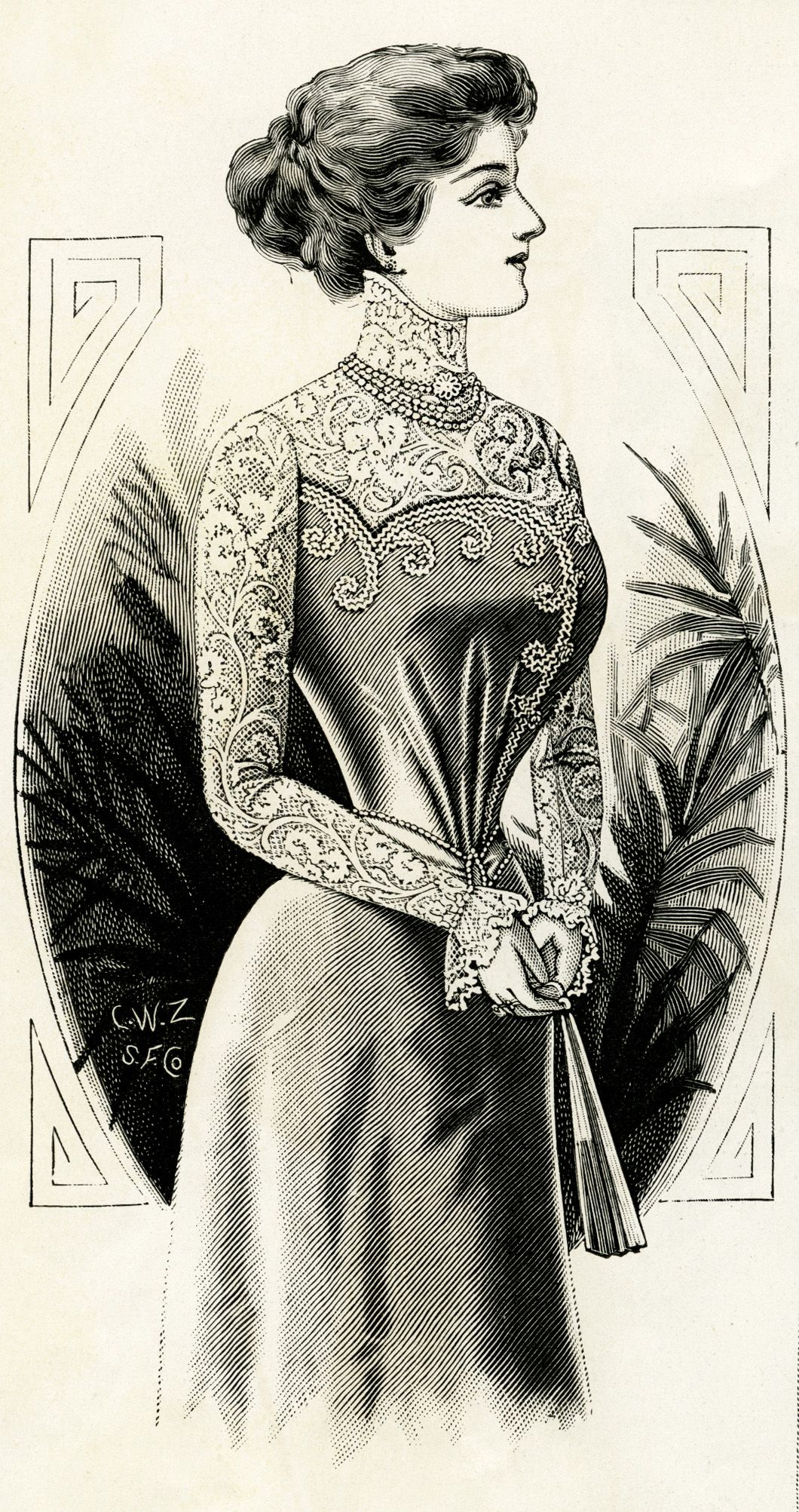 victorian clipart public domain public domain digital image graphic design resource antique designer [ 1060 x 2005 Pixel ]