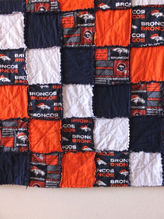This fun and sporty rag quilt can be customized to fit most ... : customized quilts - Adamdwight.com