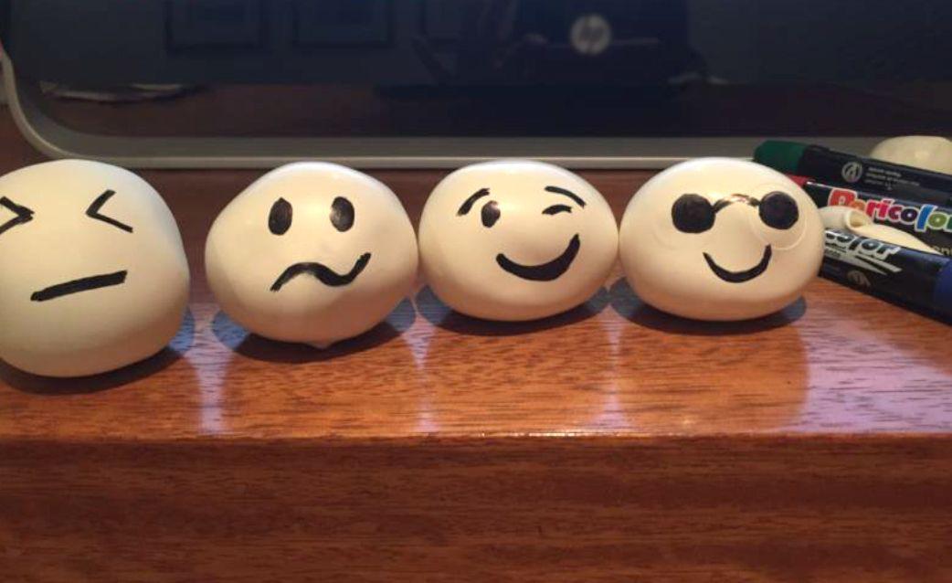 Globos con emociones para explicar la resiliencia.  Estudiante: Clara Patricia del Castillo