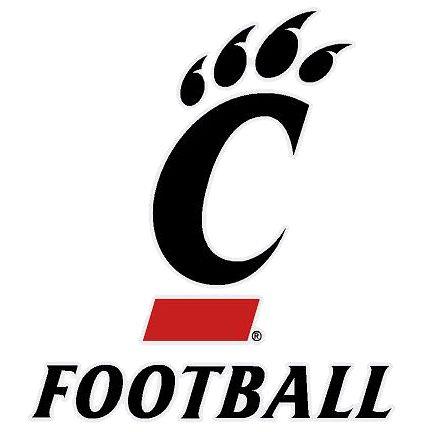 Cincinnati Bearcats Removable Football Decal 3x4 Cincinnati Bearcats Football Cincinnati Football Cincinnati Bearcats