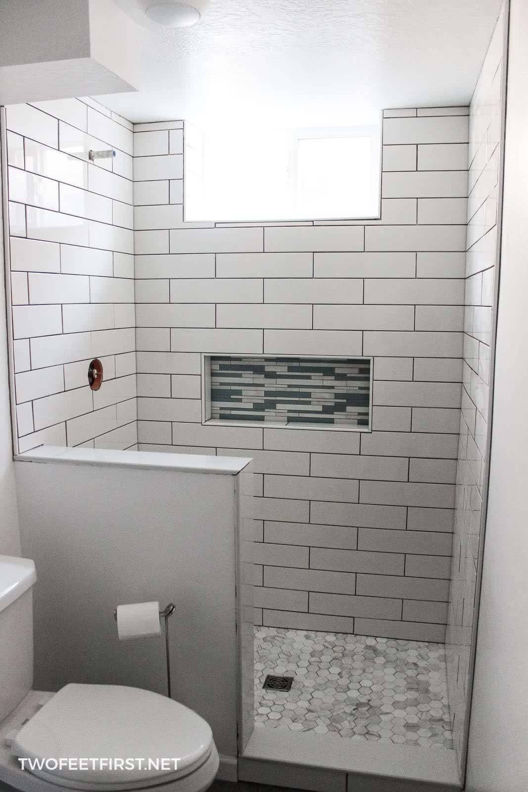 My Experience Tiling A Shower For The First Time Bathroom
