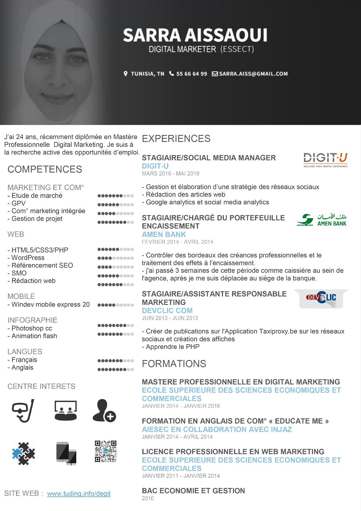 cv digital marketing