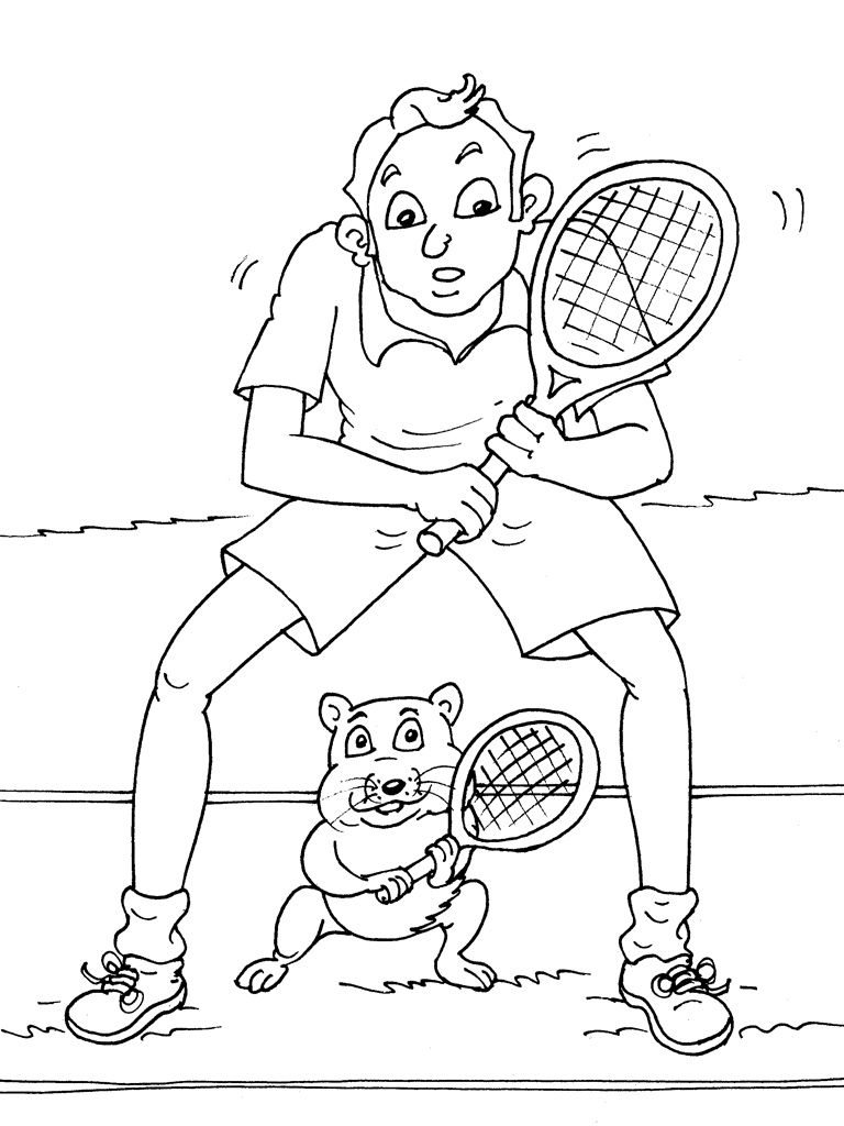 kleurplaat tennis kleurplaten tennis sportdag