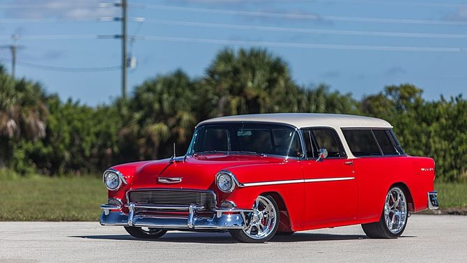 A Gorgeous And Award Wining 1955 Chevrolet Nomad To Be Sold At