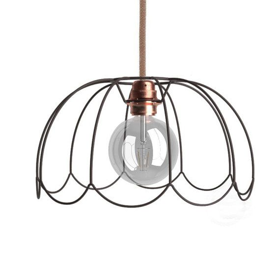 Geometric Cage Pendant Light Victorian Lampshade Hanging Lamp Restored Vintage Industrial Chandelier Lighting Edison Ceiling Kids