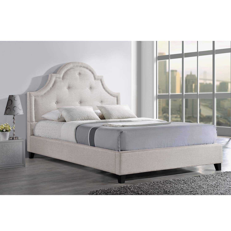 Baxton Studio Colchester Linen Modern Platform Bed In Light Beige