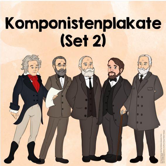 Komponistenplakate (Set 2) Das nächste Set mit neuen Komponistenplakaten ist fe… – Bekki Stuffins-Bauer
