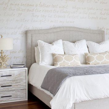 Love These Bedding Colors White Grey Beige Love The Patterns In Impressive White Bedding With Decorative Pillows
