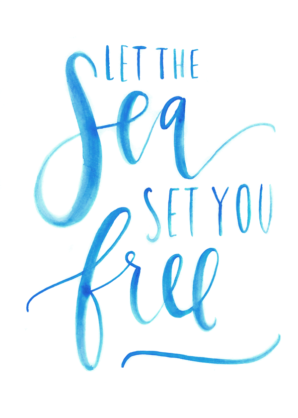 Let The Sea Set You Free Printable For The Home Pinterest