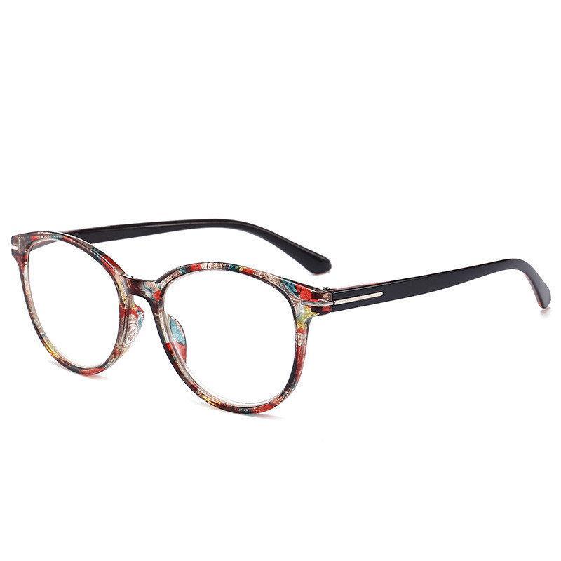 9de9b394f97 Womens Unisex Retro Round Printed Reading Glasses PC Full Frame HD Resin  Lens Spring Feet Eyeglasses  Glasses  WomenAccessories