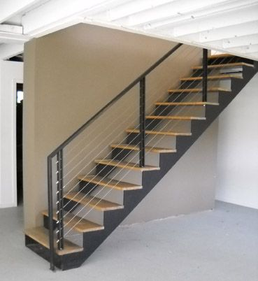 MEATAL STAIR | Double Stringer Stairs By Acadia Stairs