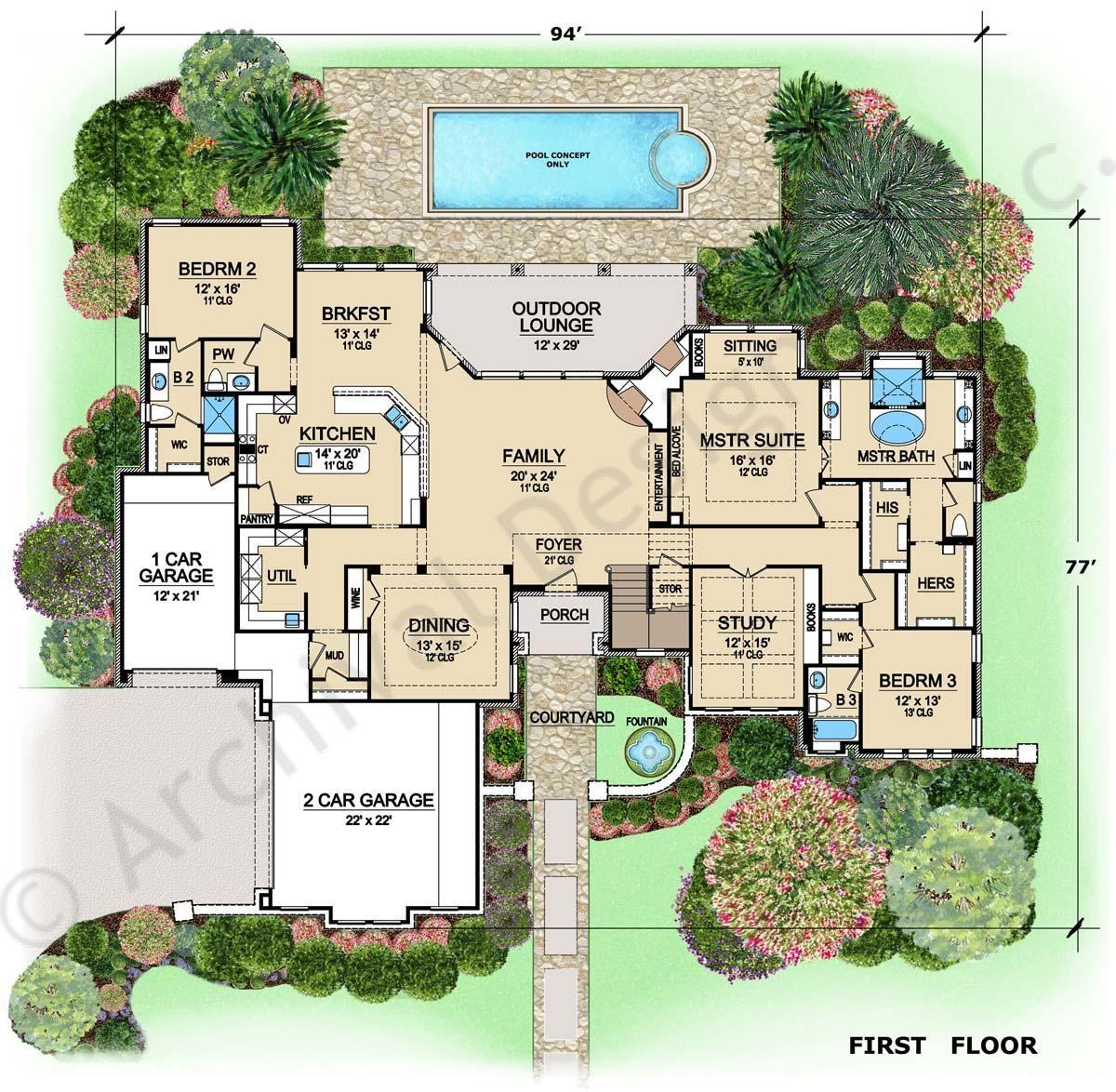 Wiesbaden House Plan First Floor Plan Dream Home