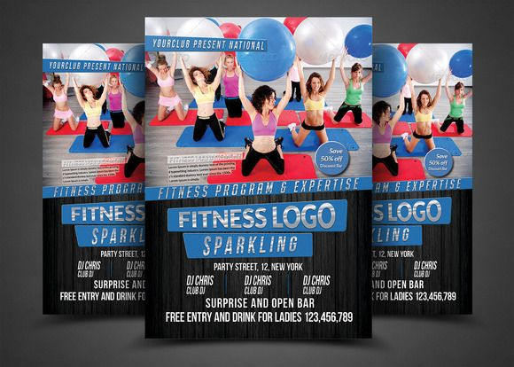 Fitness Flyer Print Templates  Flyer Printing And Personal Trainer